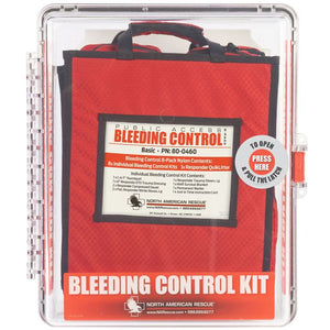 Public access bleeding control kit from north american rescue. This is the basic clear polycarbonate kit.