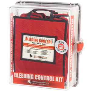Public access bleeding control kit from north american rescue. This is the intermediate clear polycarbonate kit.