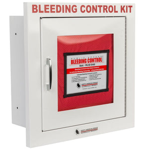 This is the metal semi-recessed case that houses the bleeding control kit.