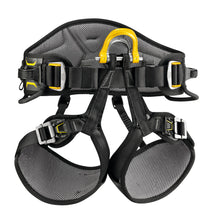 Load image into Gallery viewer, Black harness with yellow highlights