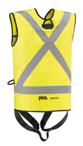 yellow safety harness rear view