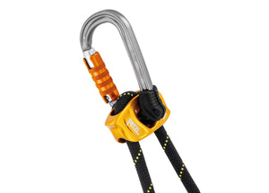 Captive adjust accessory on safety rope