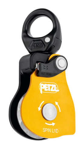 Petzl Spin L1D Pulley with one-way rotation and swivel Width=