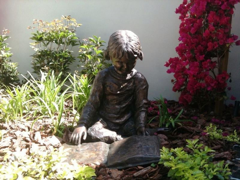 Bronze Girl Reading Sculpture