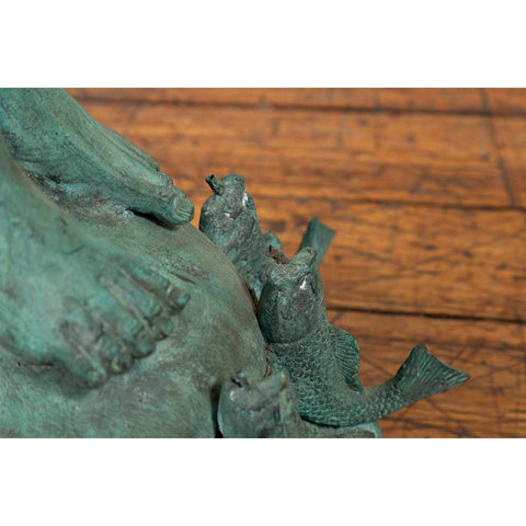 Greco Roman Verde Bronze Sculpture of Mercury