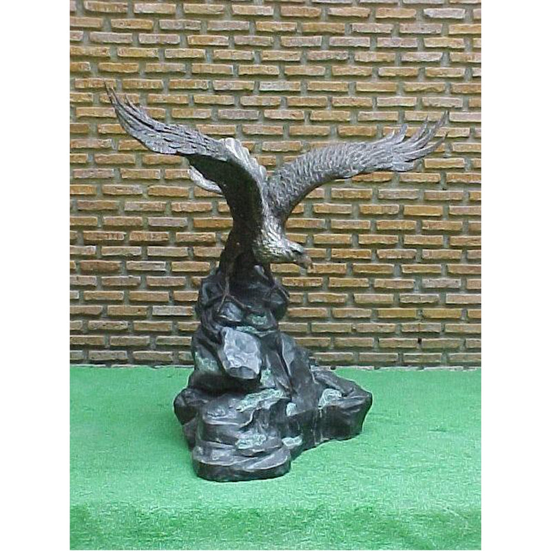 Bronze Sculpture on  Eagle on rock | Sculpture of Eagle on rock