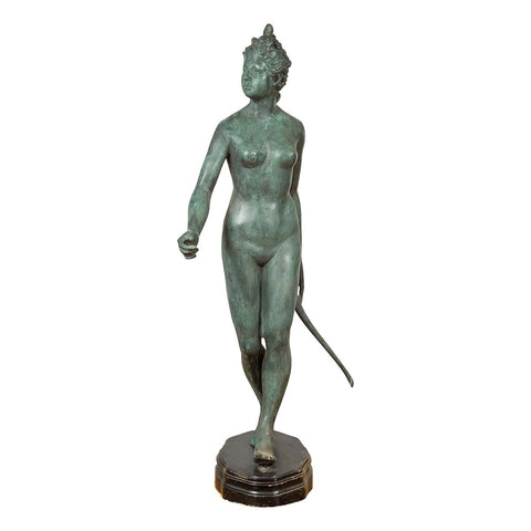 Bronze Statue of Diana the Huntress with her Bow
