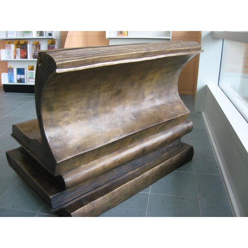Bronze Stack of Books Bench for Libraries and Schools