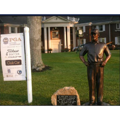 Custom Bronze Sculpture of Pete Dye in French Lick, Indiana