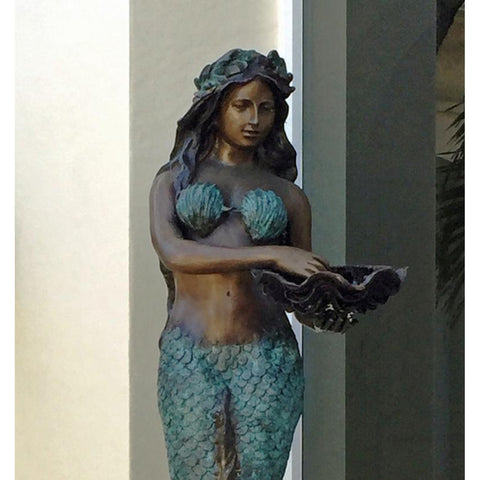 Arielle Mermaid Bronze Statue