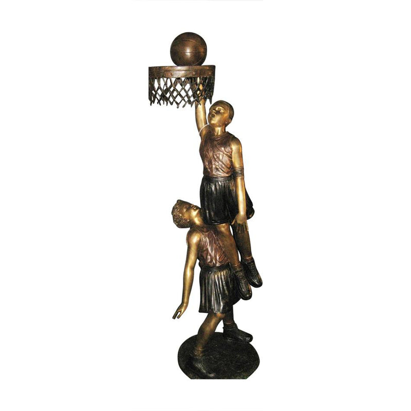 Bronze Basketball Statue