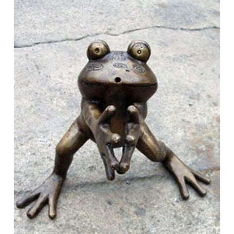 Frog Standing with Hands Together