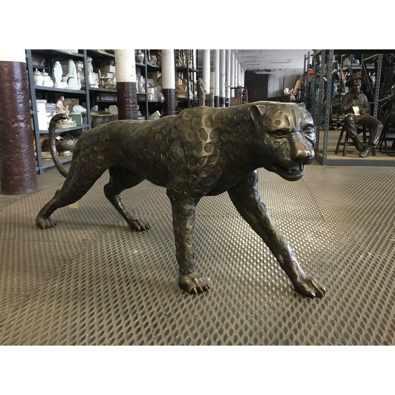 Bronze Statue | Safari Bronze Jaguar Leopard Cheetah Sculpture
