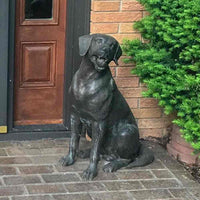 Labrador Retriever With Tennis Ball Dog Statue