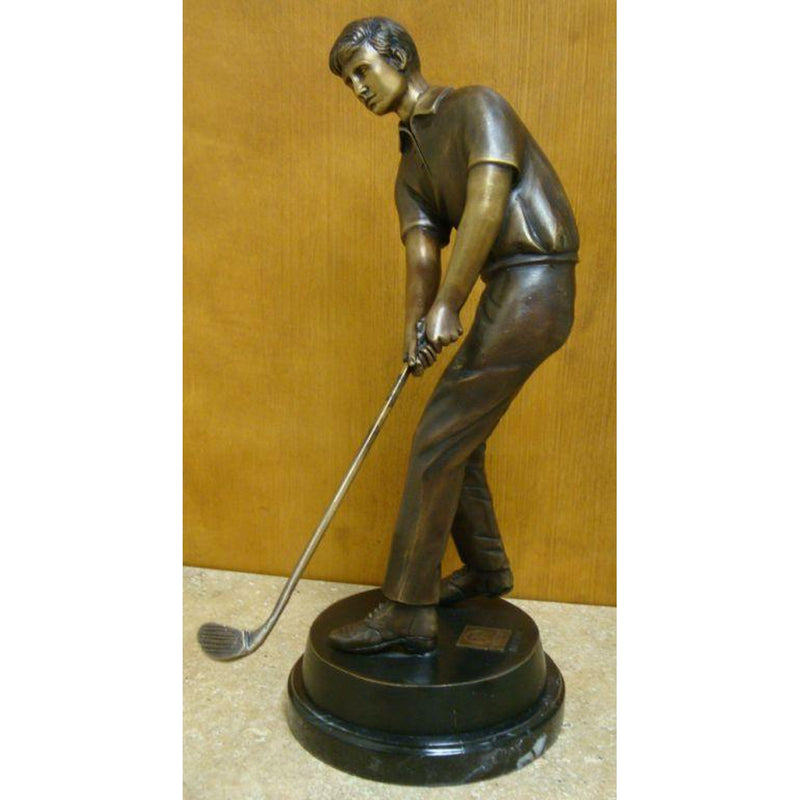 Golfer Chipping Bronze Golf Tabletop Statue