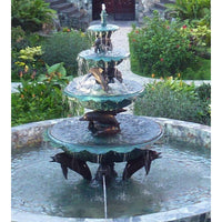 Four Tier Dolphin Fountain
