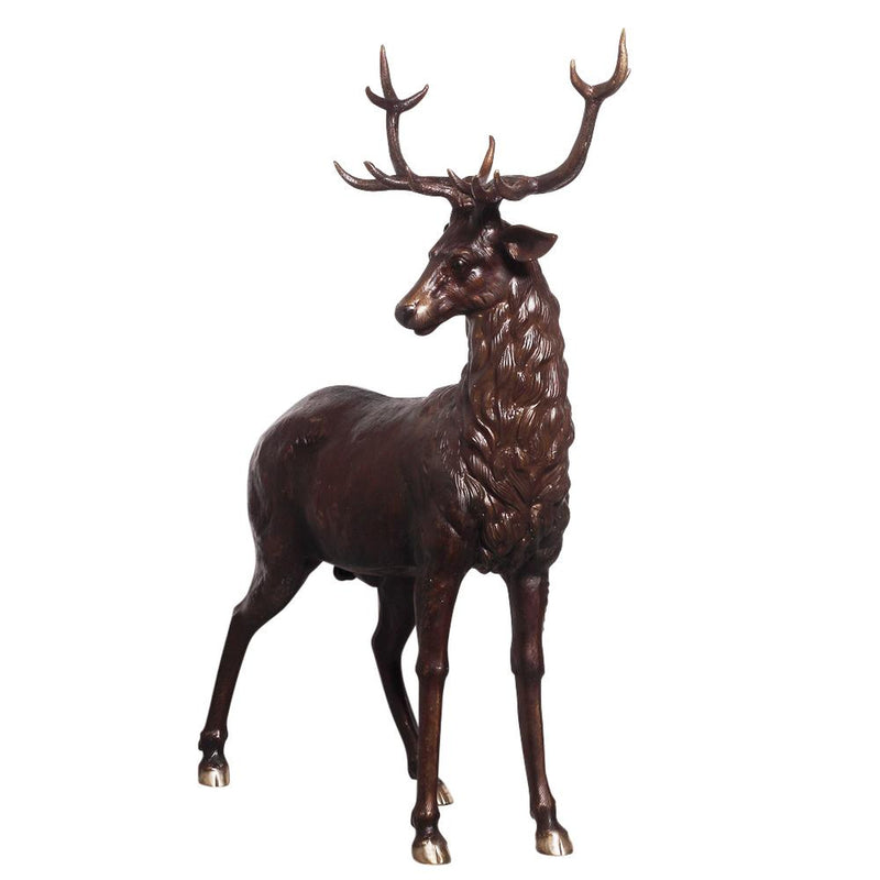 Life-Size Bronze Stag