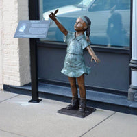 Fly Away - African American Girl with Bird
