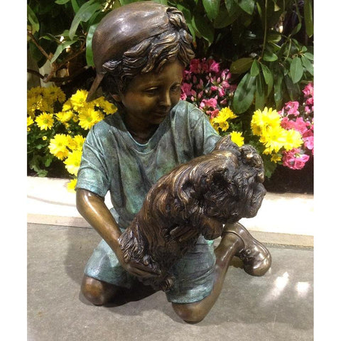 Puppy Love Dog Statue