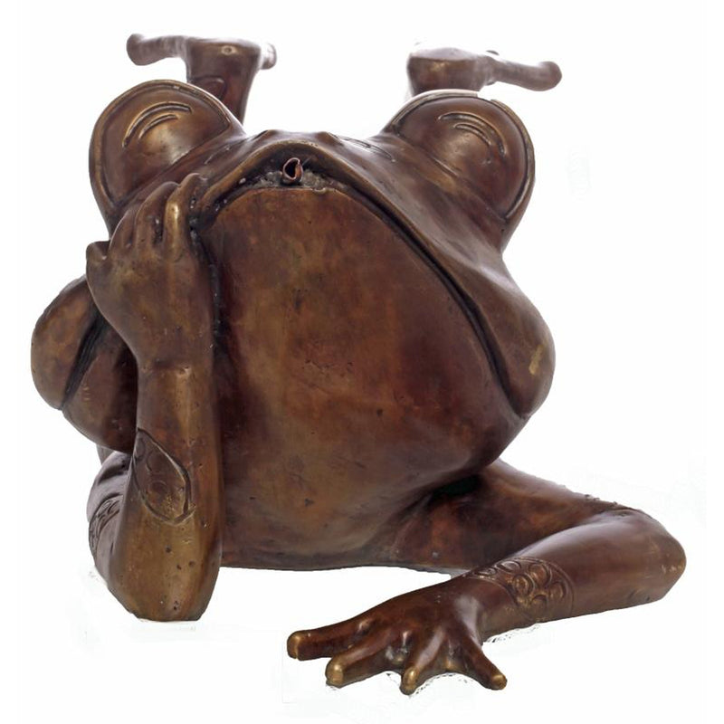 Bronze Frog Sculpture