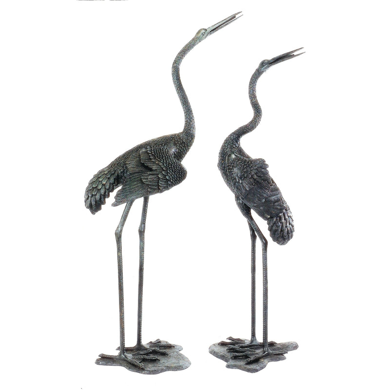 Bronze Statue of Two Cranes - Fountain