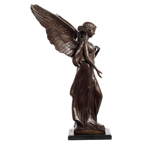 Angel Standing on Marble Base