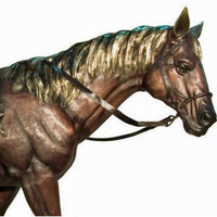 Bronze Horse with Saddle Statue