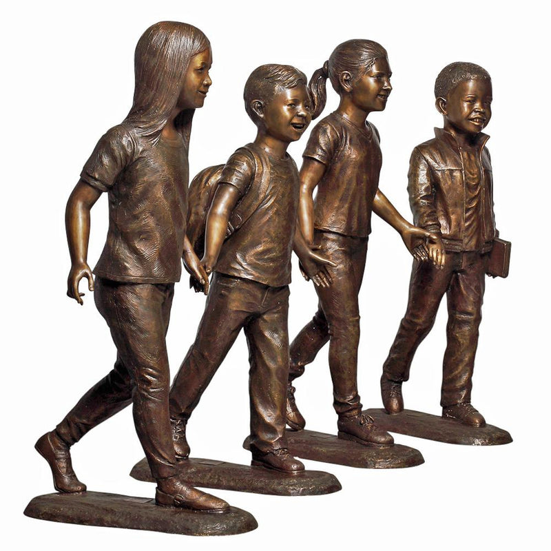 Custom Bronze Children Kids Holding Hands