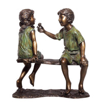 Forever Friends-Bronze Statue of Children Reading-Randolph Rose Collection-RG1534