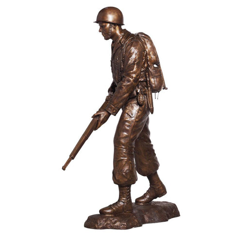 WWII USA Marine on Patrol Custom Bronze Soldier