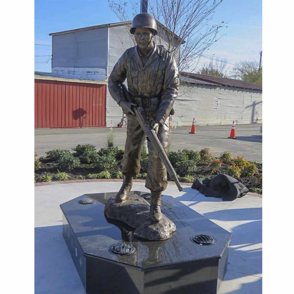 Bronze Custom USA Marine Army Bronze Sculpture