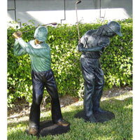 Bronze Sports Statue of Male and Female Golfer