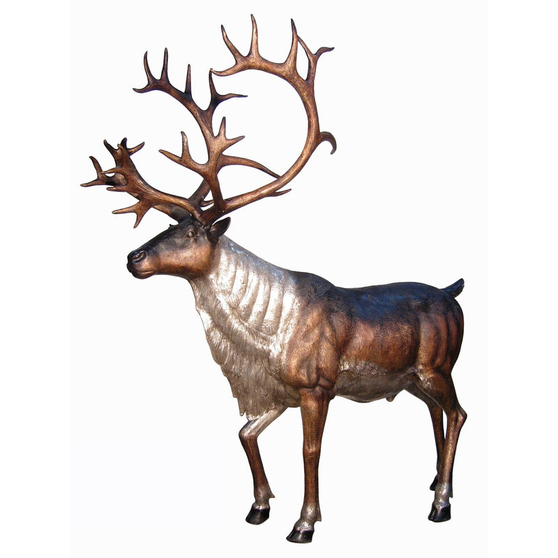 Caribou Bronze Statues | Hunting Animal Statue Art