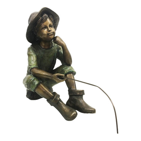 Little Fisherman Bronze Statue