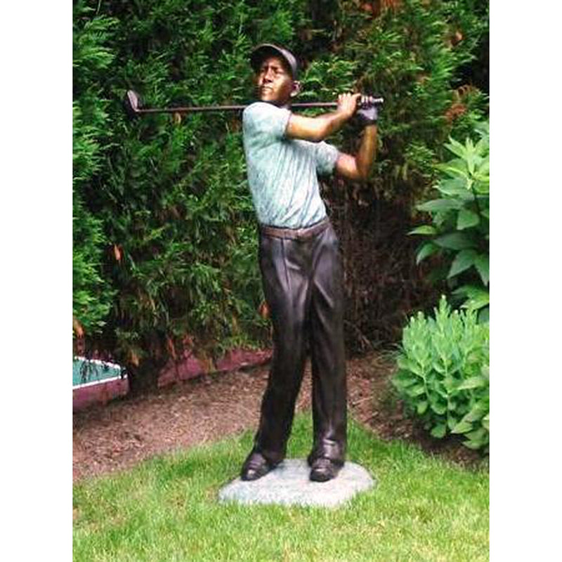 Bronze Sports Statue of Male Golfer