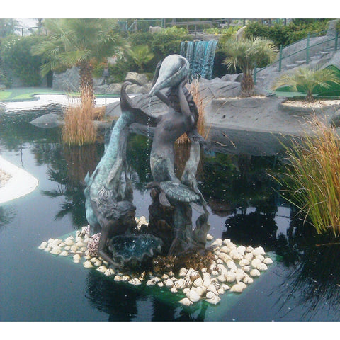 Swimming Mermaid Bronze Fountain