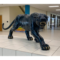 Aggressive Stalking Panther Statue