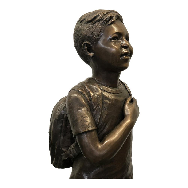 Patriotic Bronze Children Statues for Parks, Cities & Libraries