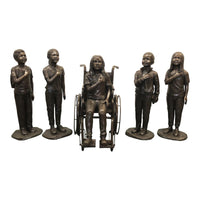 Celebrate Diversity - Pledge of Allegiance Bronze Statue Set of Five
