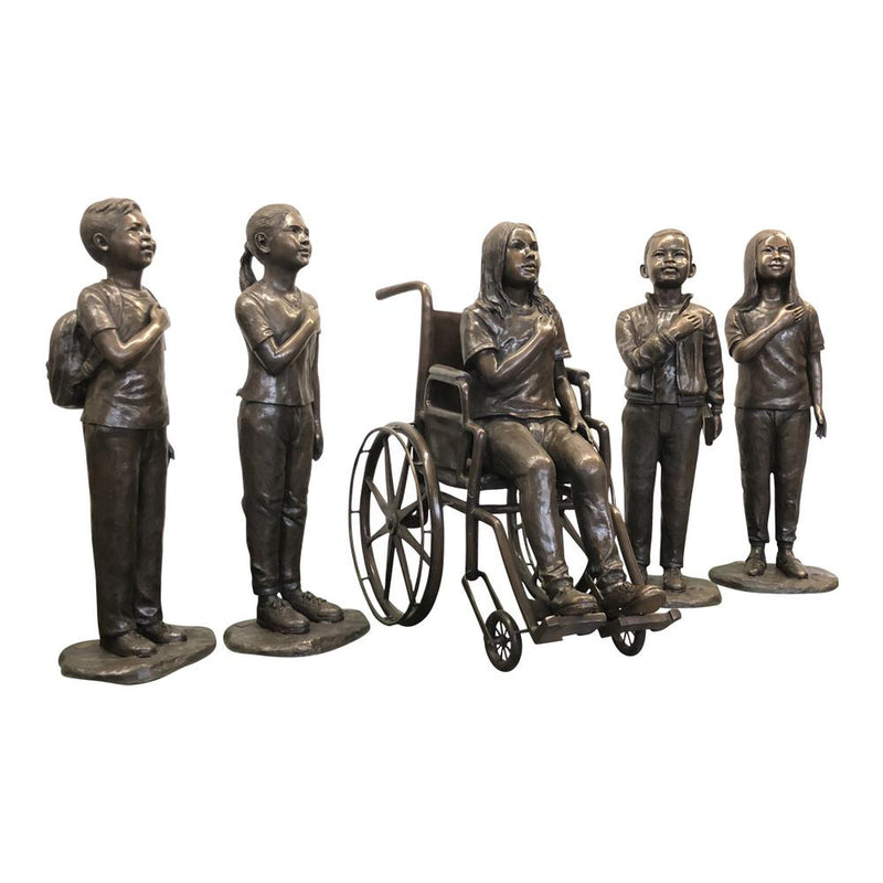 Bronze Sculpture of  Girl in Wheel Chair| Sculpture of Girl in Wheel Chair|