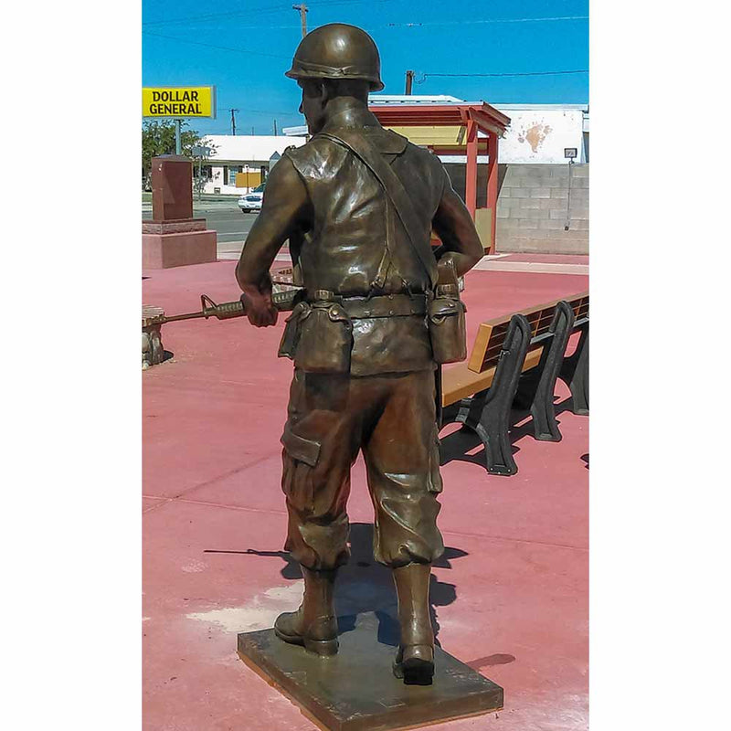 Vietnam War Soldier Patriotic Bronze Statue | Randolph Rose Collection