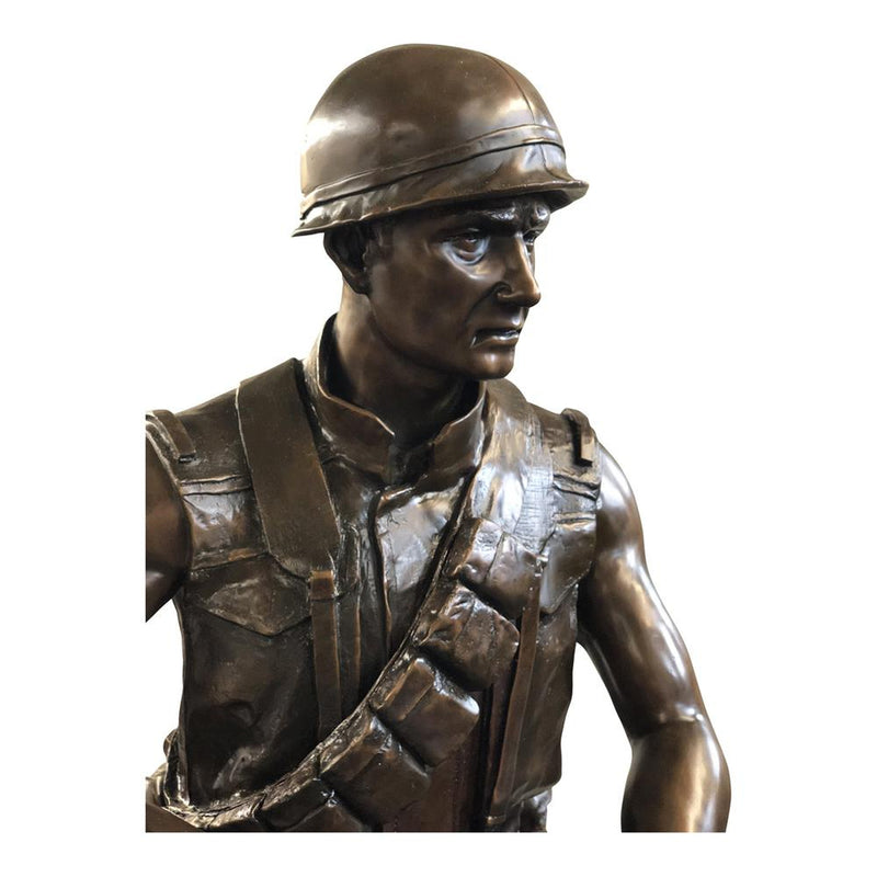 Bronze Sculpture of WW2 Soldier| Sculpture of WW2 Soldier