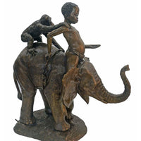 African Bronze Elephant Statues