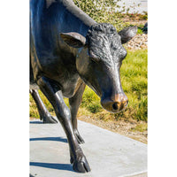 Custom Bronze Holstein Cow Walking