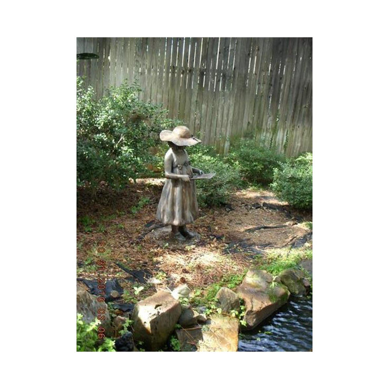 Charlotte - Southern Girl Reading Book-Bronze Statue of Children Reading-Randolph Rose Collection-RG206