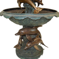 Triple Tier Dolphin Fountain