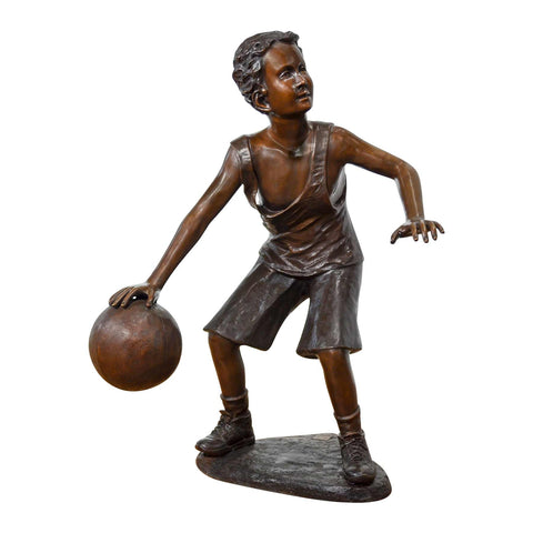 Hoop Dreams - Boy Playing Basketball Statue