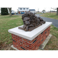 Bronze Lion Statues | Bronze Lion Sculptures | Sleeping Lion | Resting Lion