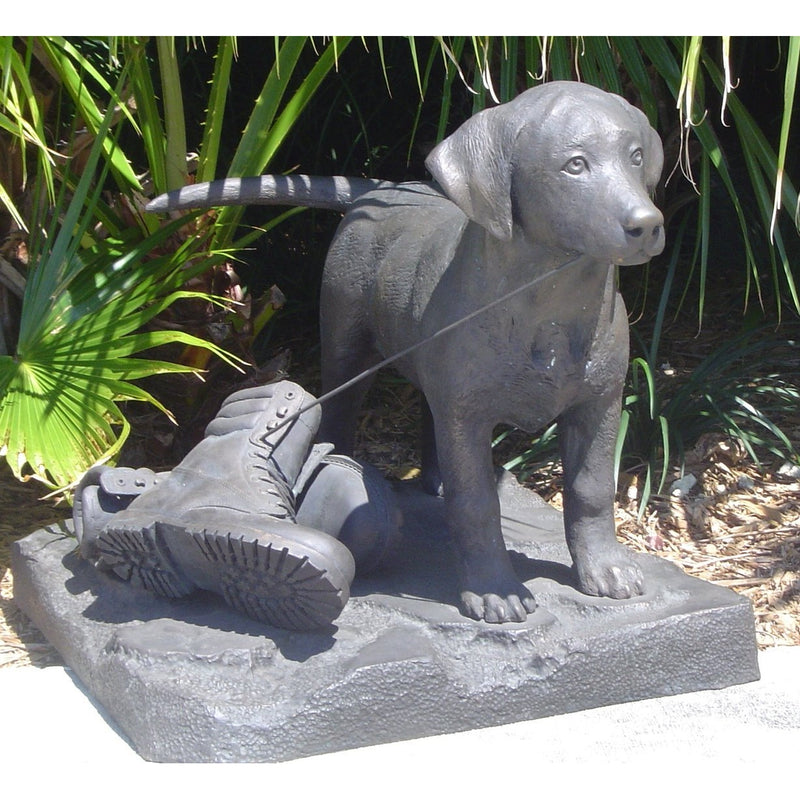 Bronze Dog Statue of Lab - Labrador Puppy