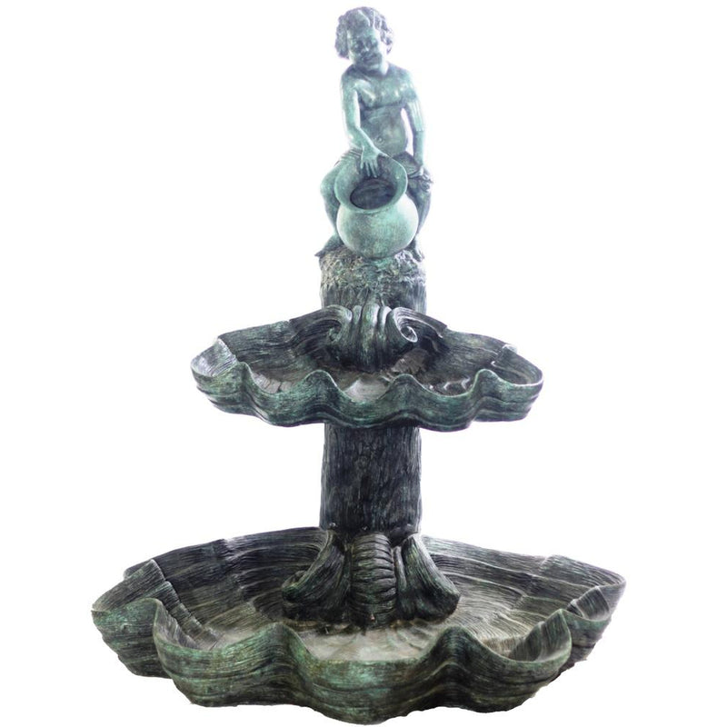 Bronze Cherub Two-Tier Fountain by Randolph Rose Collection